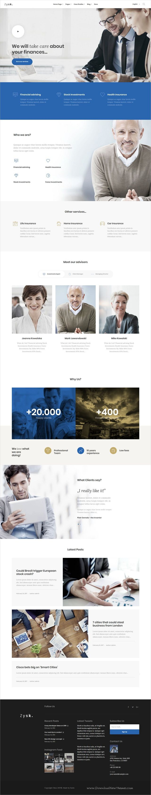 Zysk is smooth and stylish 7in1 responsive #WordPress theme for #business, #finance and #consulting services professional website download now..