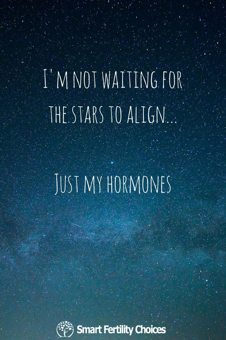Forget the stars! Come on, hormones! Click  #infertility #quote #fertility