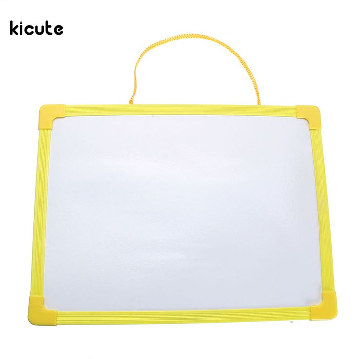 New Whiteboard Dry Wipe Board Mini Drawing Whiteboard Small Hanging Board With Marker Pen for Childern Study Gifts Color Random