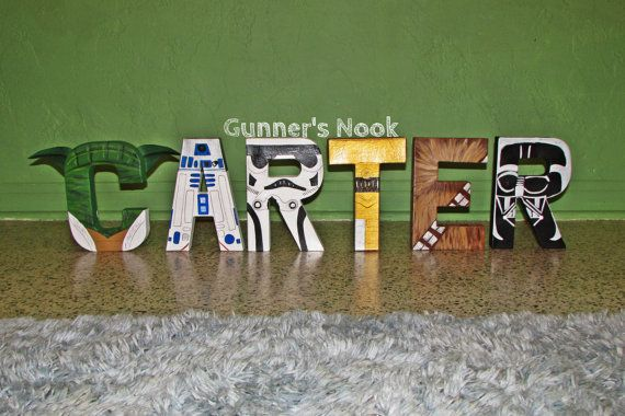 Star Wars Character Letter Art by GunnersNook on Etsy, $12.00