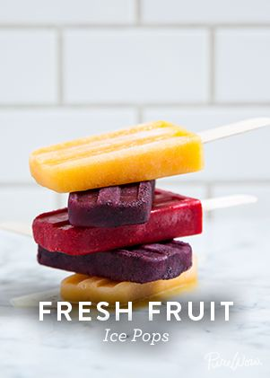 Fresh Fruit Ice Pops via @PureWow