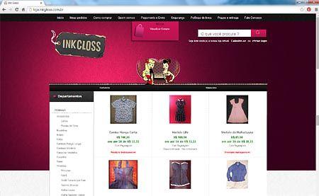 Loja Virtual da Ink Gloss - Roupas e Vestidos Retrô com detalhes pintados a mão.