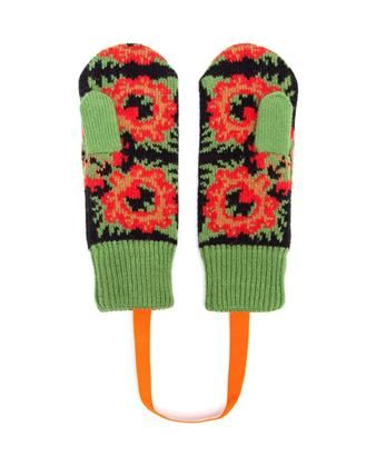 TAK.ORI - Merino Wool Flower Pattern Mittens