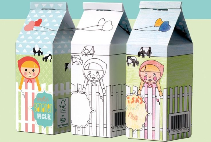 Winkeltje spelen op je kinderfeestje? Kleur eerst allemaal een verpakking, vouw het tot doosjes, download de gratis extra's en het spelen kan beginnen. | de Ontwerpwinkel van © Papiergoed