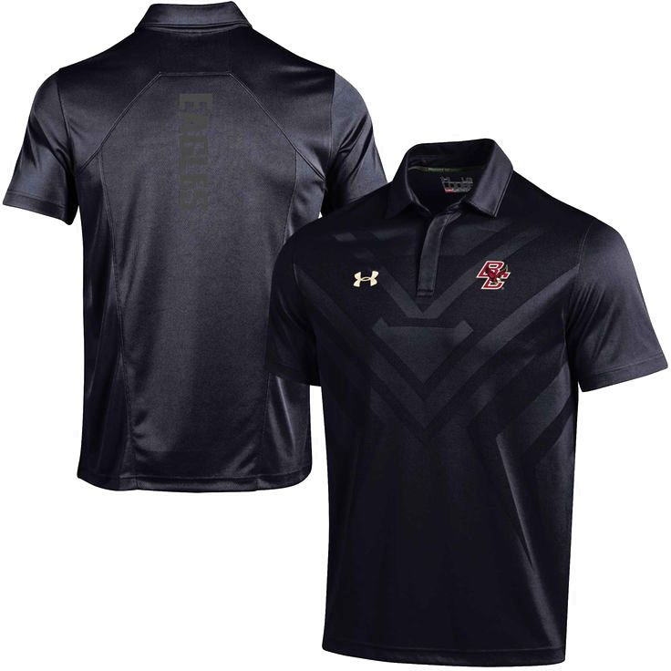 Boston College Eagles Under Armour Coaches Sideline Scout Polo - Black - $79.99