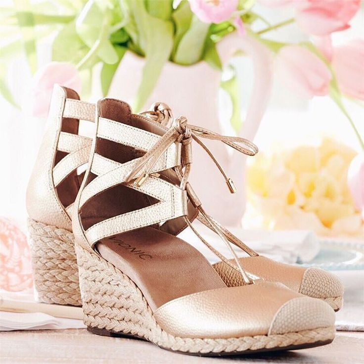 "968 Likes, 21 Comments - QVC (@qvc) on Instagram: ""🌟☁️🌸Day dreaming of spring! 🌸☁️🌟 How fab are these @vionicshoes Lace-up Wedge Espadrilles?! {Click…"""