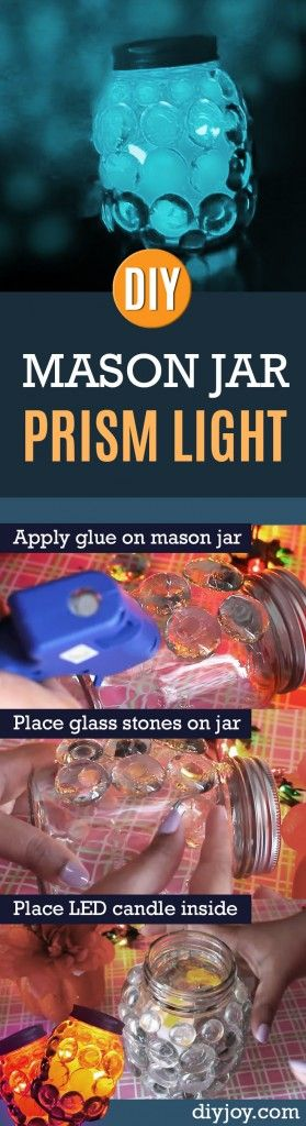76 Crafts To Make and Sell - Easy DIY Ideas for Cheap Things To Sell on Etsy, Online and for Craft Fairs. Make Money with These Homemade Crafts for Teens, Kids, Christmas, Summer, Mother's Day Gifts. | DIY Prism Light Candle | diyjoy.com/crafts-to-make-and-sell
