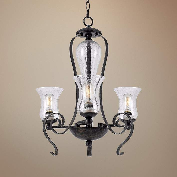 """Classic Collection 23 1/2"""" Wide Black Iron Chandelier - #5F527   Lamps Plus"""