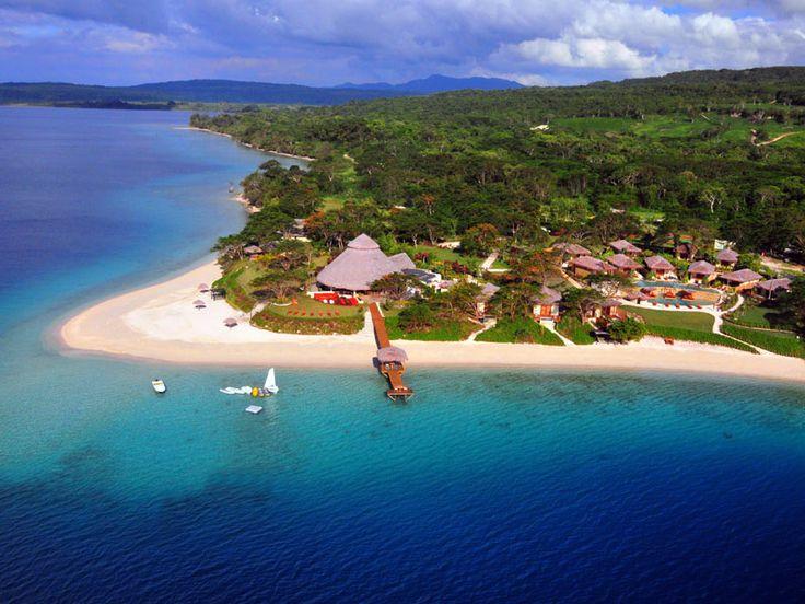A fabulous boutique resort set on a stunning white sand beach. The Havannah, Vanuatu  www.islandescapes.com.au
