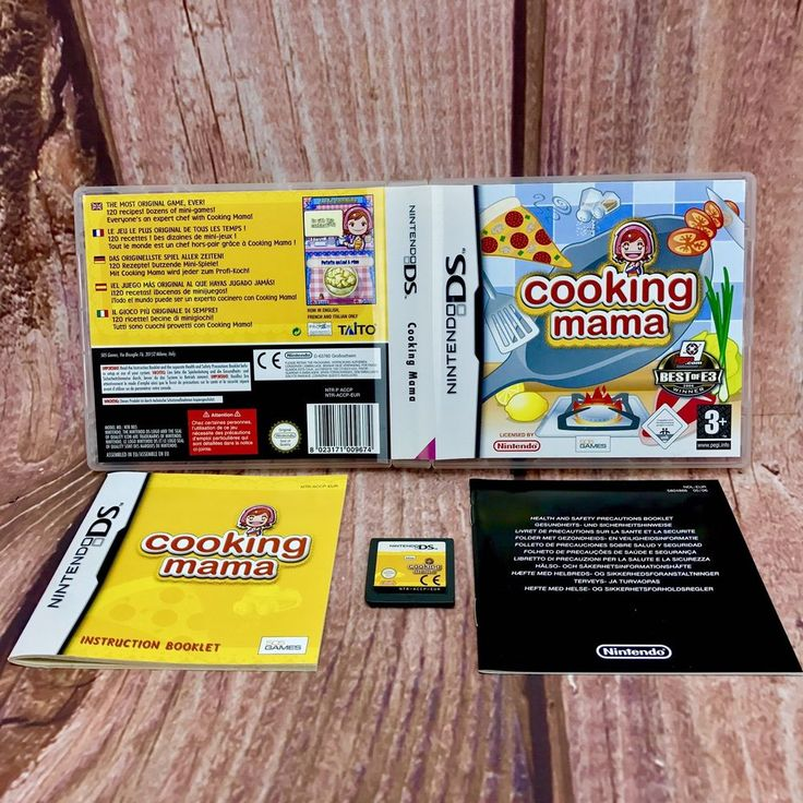 Nintendo Ds dsi xl lite 2ds 3ds Game Cooking Mama With Case Booklets Cart Ect