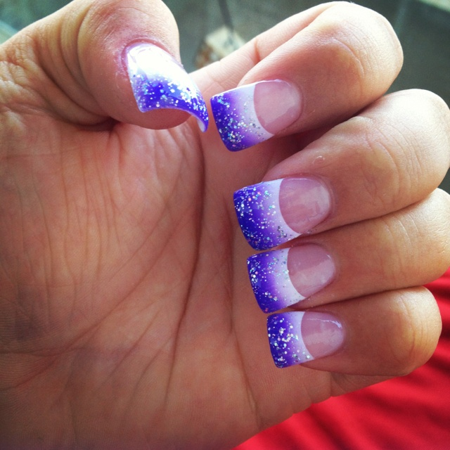 Purple nails :) #flares #gradient going to get these but in pink and black