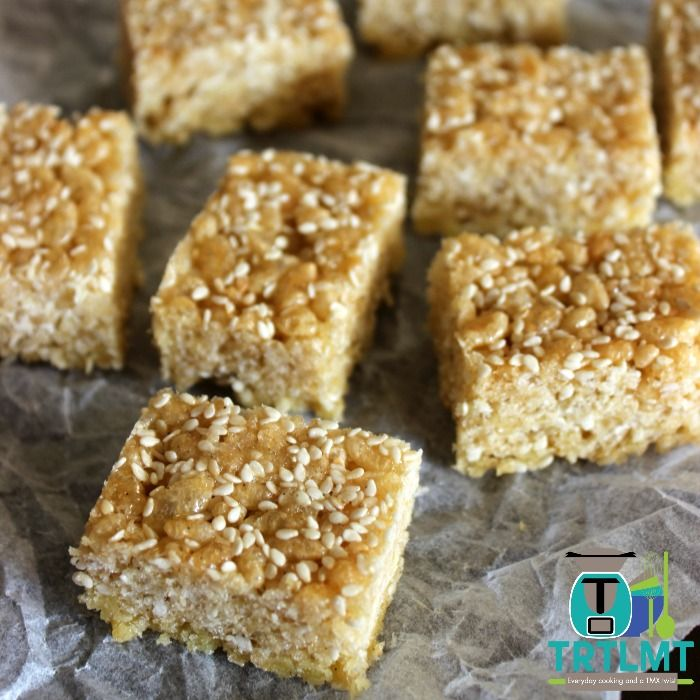 Join us  This recipe for Caramel Rice Bubble Bars comes from my wonderful friend Amy who is an amazing cook and has
