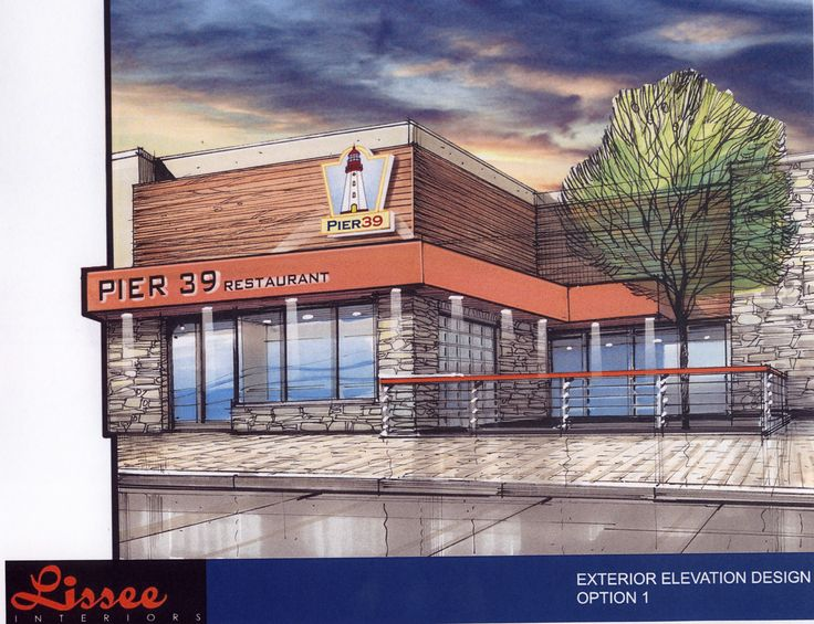 pier 39 restaurant proposed elevation exterior design rendering by