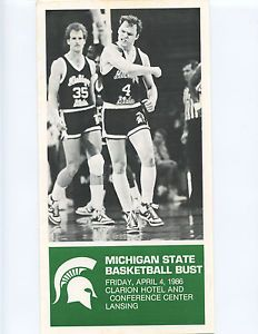 1986 michigan state spartans images | 1986-MICHIGAN-STATE-SPARTANS-BASKETBALL-BUST-PROGRAM-SCOTT-SKILES-TOM ...