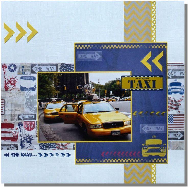 Toga, New York, scrapbooking, page, idée