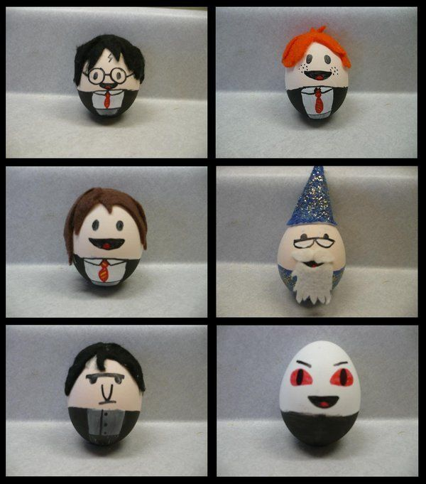 Harry Potter eggs - the Voldemort one is cute!