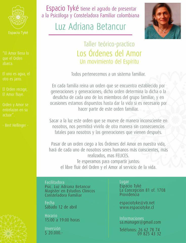 """Danza y Constela: Taller Teórico Práctico  """"Los Ordenes del Amor"""" Sá..."""