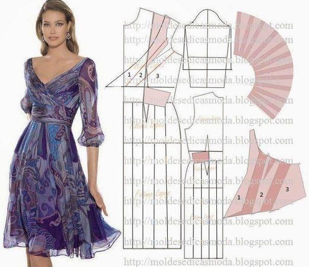 35 modelos y patrones de vestidos para dama03 | costura con patrones ...