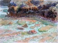Miti'aro, Reef Flat and Makatea Cliffs