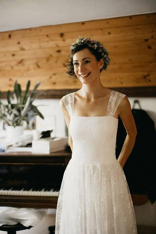 lace wedding dress, custom made