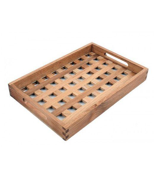 Taca drewniana 24x36 w Aleja Kwiatowa na DaWanda.com
