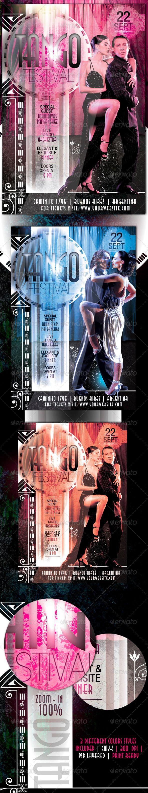 Tango Festival Flyer — Photoshop PSD #festival flyer #elegancy flyer • Available here → https://graphicriver.net/item/tango-festival-flyer/516229?ref=pxcr