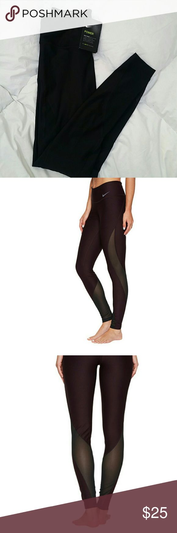 NIKE Tight Fit Womens' Training Pants Be your best self with these workout pants! Mesh sides make for stylish and breathable pants. True to size. Never been worn! Nike Pants