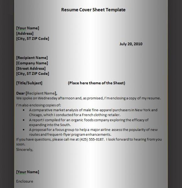 25+ unique Cover sheet for resume ideas on Pinterest Skills for - cover page letter for resume