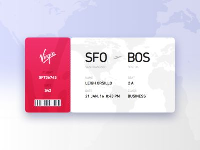 Dailyui024 - Boardingpass