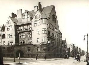 louis comfort tiffany mansion circa 1886 at the corner of 72nd street and madison avenue | Old New York | Pinterest by PhroggySmyles