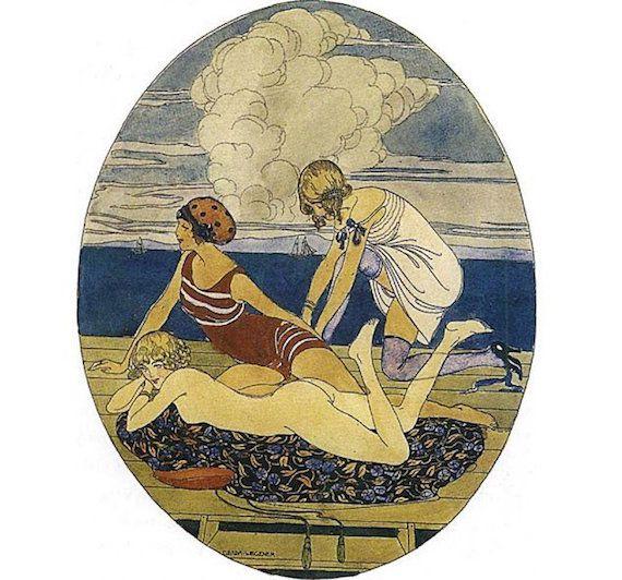 Gerda-Wegener-beach-illustration