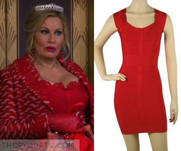 2 Broke Girls: Season 5 Episode 7 Sophie's Red Bandage Dress |