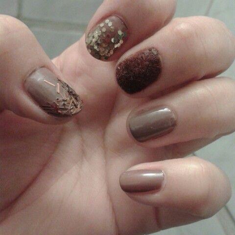 Mis uñas de chocolate ♥