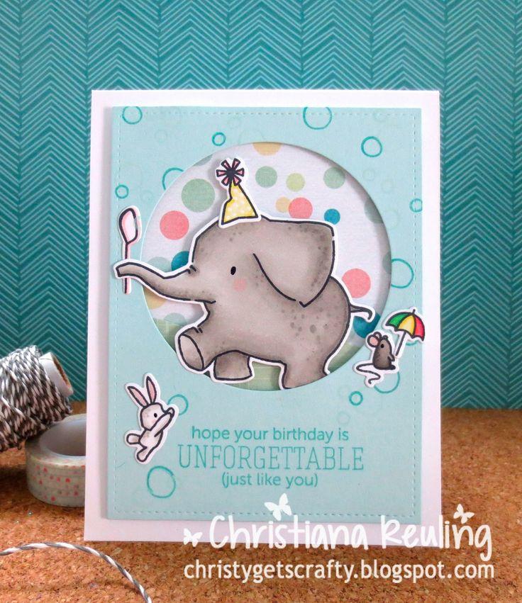 Ella & Friends: Mama elephant, critter sketch, Christy Gets Crafty:ay