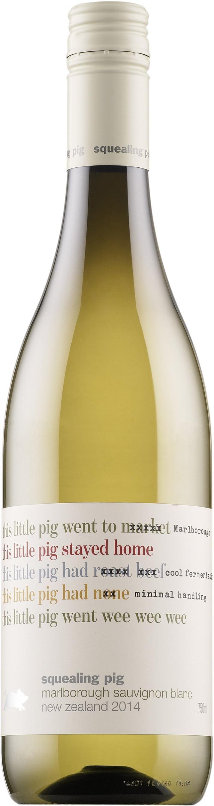 Squealing Pig Sauvignon Blanc 2015 muovipullo