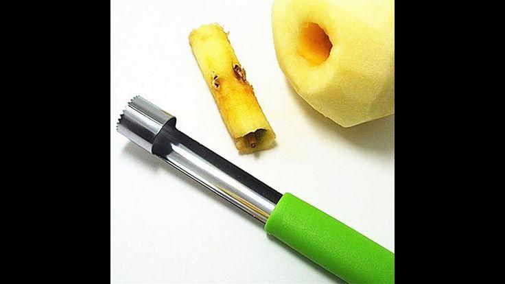 Нож для удаления сердцевины яблок! Как он работает.  ALIEXPRESS посылка