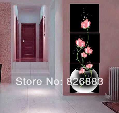 Hand-painted oil painting wall art  Beautiful flowers decoration abstract Landscape oil painting on canvas~No Framed DM-0056