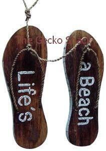 The Gecko Shack - Life's a Beach Flip Flops, $15.00 (http://www.geckoshack.com.au/lifes-a-beach-flip-flops/)