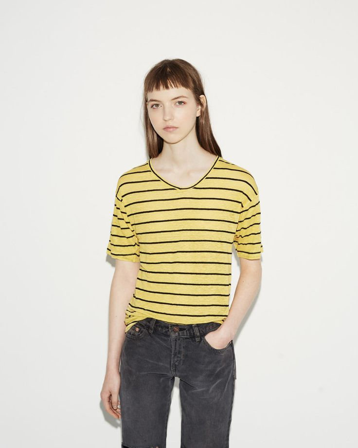 ISABEL MARANT ÉTOILE | Andreia Striped Linen Tee | Shop at La Garçonne