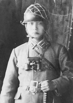 Lieutenant Park Chung-hee (朴正熙), later to become President of South Korea, in the Imperial Japanese Army, serving in Manchukuo, 1944.