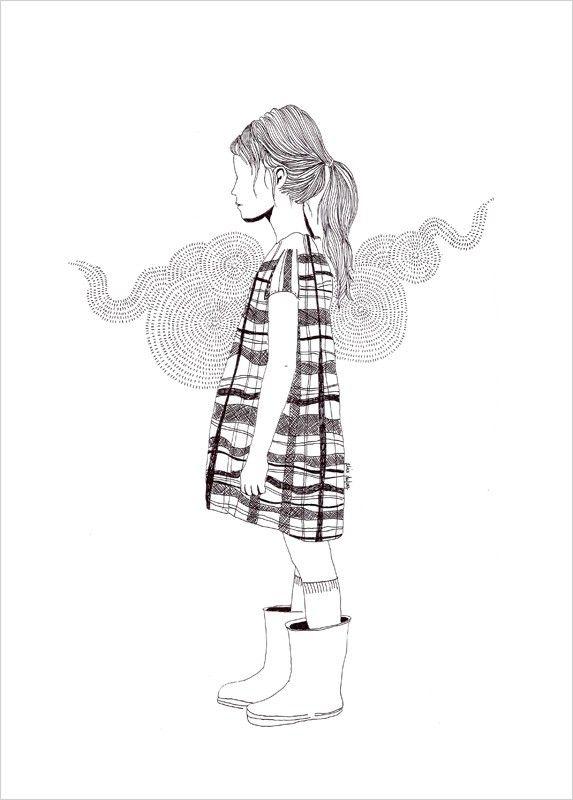Alice Dufays little girl b illustrations for sale at LAffiche Moderne