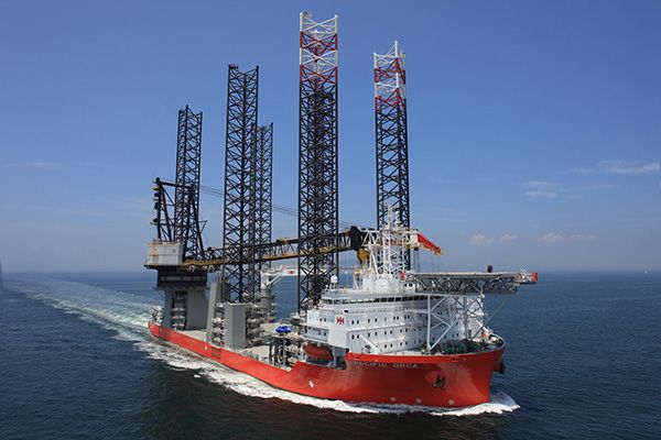 Pacific Orca is reportedly the largest wind farm installation vessel in the world.