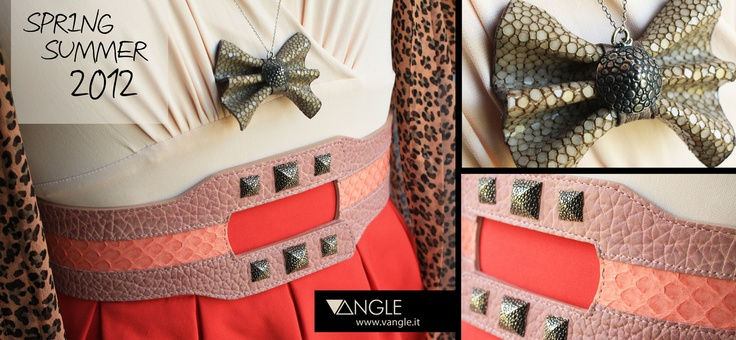 Vangle's Belt and Jewels |  Genuine Python Leather and Sterling Silver.  Spring Summer 2012