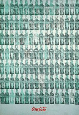 #AndyWarhol  Green Coca-Cola Bottles, 1962. Synthetic polymer, silkscreen ink and graphite on canvas 82 3/8 × 57 inches, Collection The Whitney Museum of American Art, New York.
