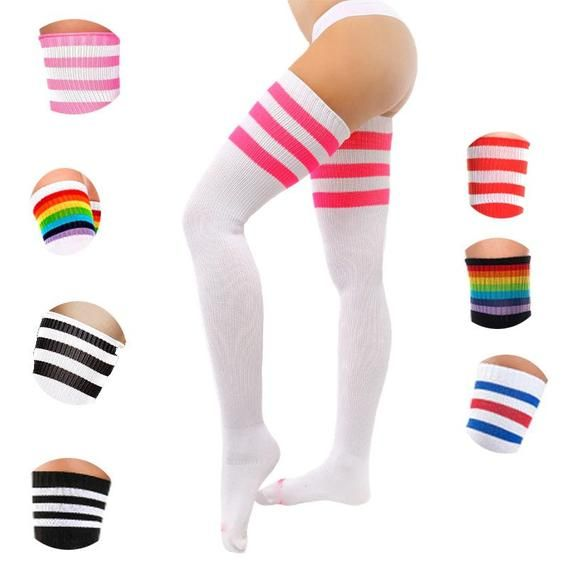 Thigh High Sock Cozy Cotton Lounge Socks Super Stretchy Over the Knee Socks Leg Warmers Women/'s Gift Idea Knee Socks