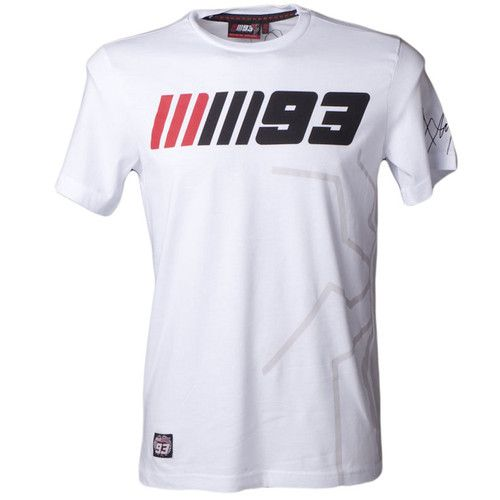 Official Marc Marquez 93 Moto GP Racing T-Shirt in White