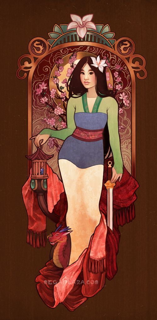 """Who I Am Inside""""  This is the second in a series I'm doing where I'm combining princesses with the seasons pieces by Alphonse Mucha.   You can get this on  Society6: http://society6.com/meganlara/Who-I-am-Inside_Print#1=45 Teepublic: https://www.teepublic.com/show/34165-who-i-am-inside Redbubblic: http://www.redbubble.com/people/meganlara/works/12114750-who-i-am-inside?ref=recent-owner"""