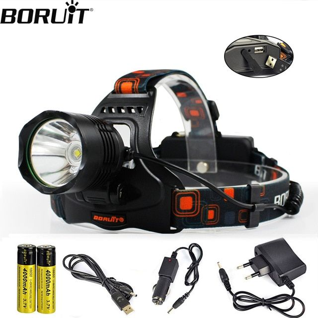 18650 Battery+Charger Outdoor USA LED Headlamp Headlight Torch  Lamp Flashlight