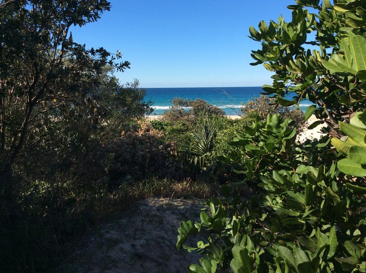 Beach from path.