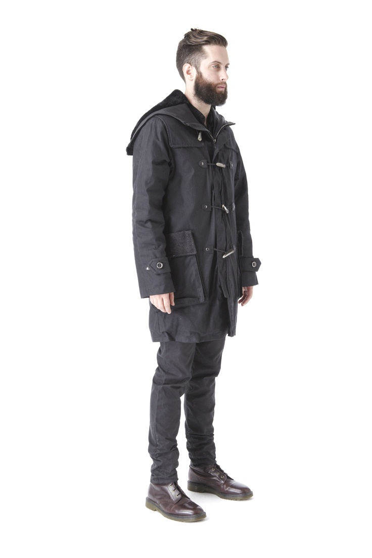 Krane-Wilson: Duffle Coat (Black) $1207.25